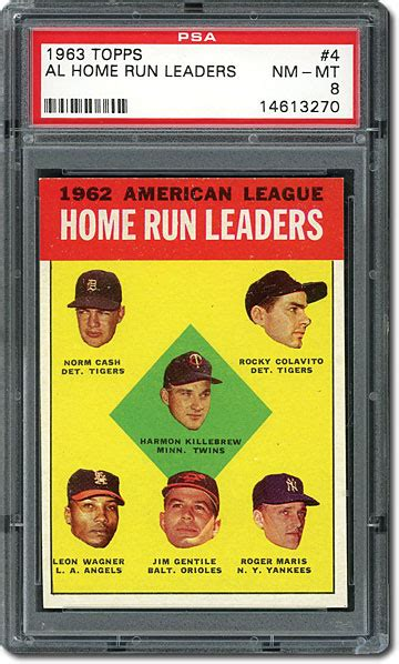 psa set registry a design for the ages topps 1963