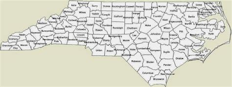 nc counties map map of carolina counties free printable maps