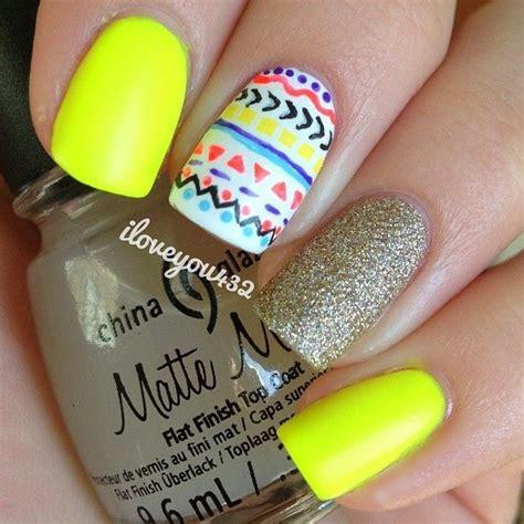 imagenes de uñas decoradas tribal mejores 43 im 225 genes de u 241 as amarillas yellow nails en