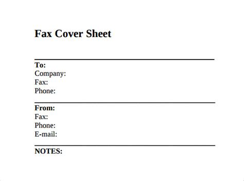 fax cover page template sle fax cover sheet 11 documents in pdf word