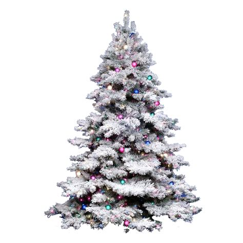 best prelit 3ft christmas trees reviews shop vickerman 3 ft pre lit alaskan pine flocked artificial tree with 100 constant