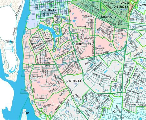 wilmington nc map wilmington nc neighborhoods map search wilmington carolina