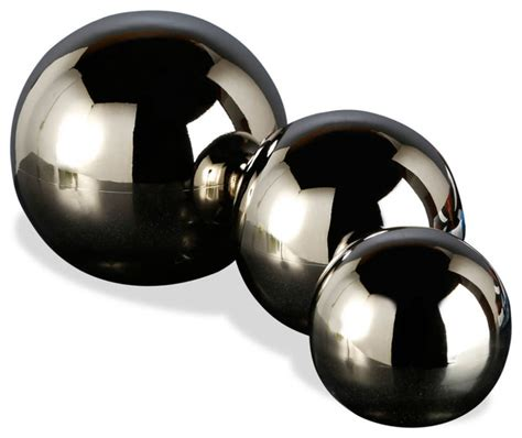 logan metal spheres set of 3 sculptures
