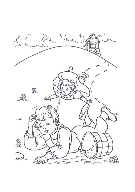 preschool coloring pages jack and jill nursery rhymes coloring pages coloring kids