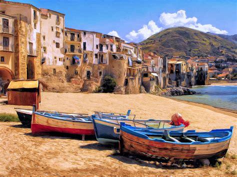italian boat old italian fishing boats painting by dominic piperata