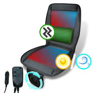Seat Cover With Fan 3in1 Cooling Fan Massager Heated Seat Cover Cushion Remote