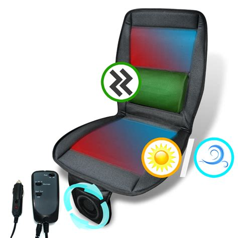 Cushion Puts The Remote In Your Seat by 3in1 Cooling Fan Massager Heated Seat Cover Cushion Remote