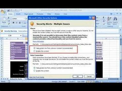 How To Enable Macros In Excel 2007 Youtube How To Enable Office 2007 Demo