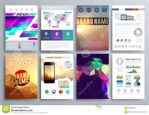 set of design templates for brochures flyers mobile