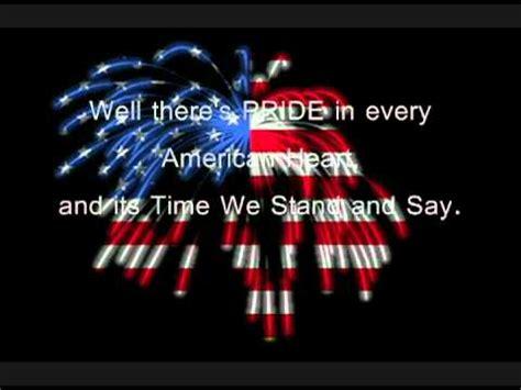 An American Lyrics God Bless The Usa I M Proud To Be An American Greenwood Lyrics