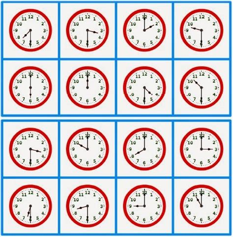 Printable Clock Bingo | warren sparrow clock bingo