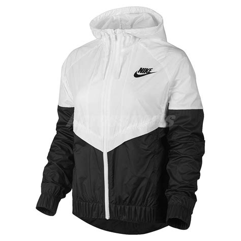 Hoodie Nike Jaket Nike asian size nike as nike windrunner black white womens