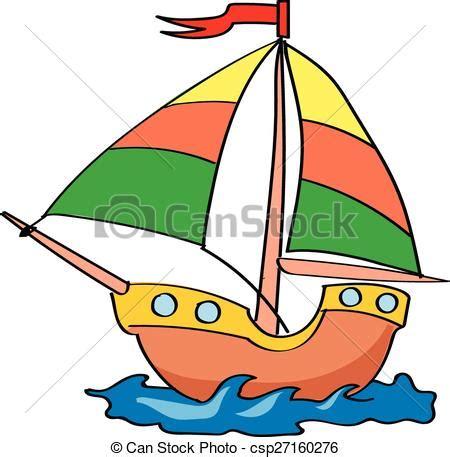 cartoon boat color illustrations vectoris 233 es de bateau blanc fond color 233