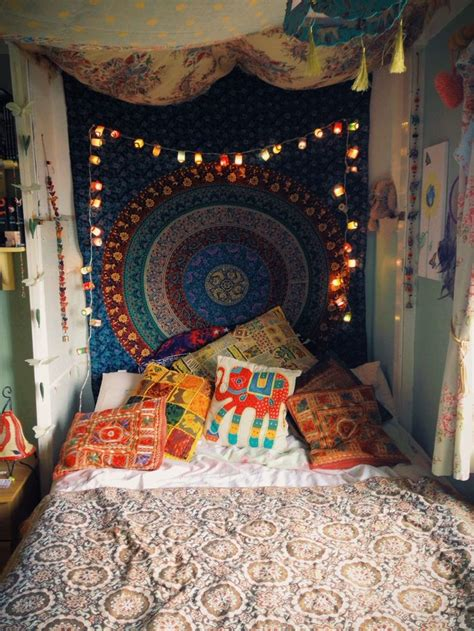 Boho Bedroom Tapestry Hippie Room Lights Mandala Tapestry Hippie Decor