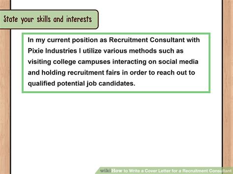 Introduction Letter Recruitment Consultant how to write a cover letter for a recruitment consultant
