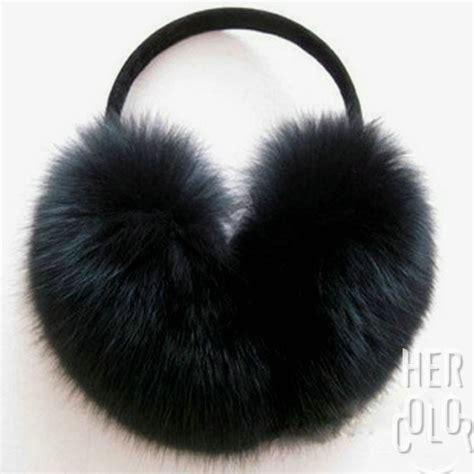 ear muffs 100 handmade fox fur ear muffs earmuffs fashion gift new ebay