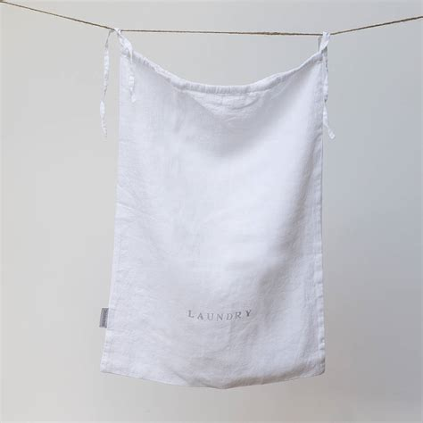 Laundry Bag By The Linen Works Notonthehighstreet Com Linen Laundry