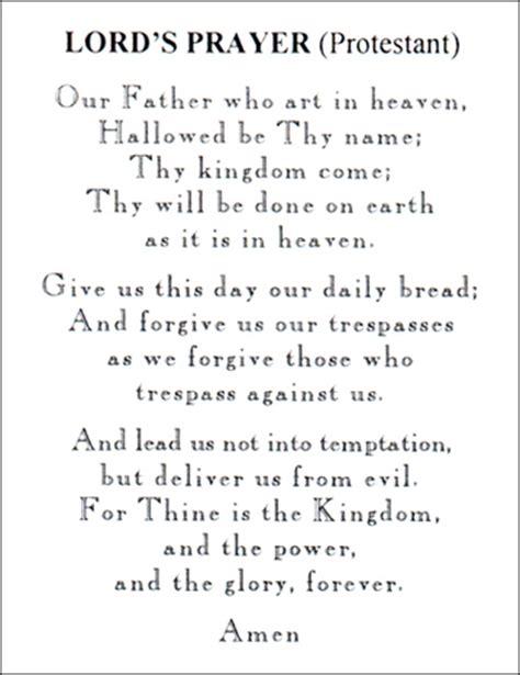 Lord S Prayer Protestant