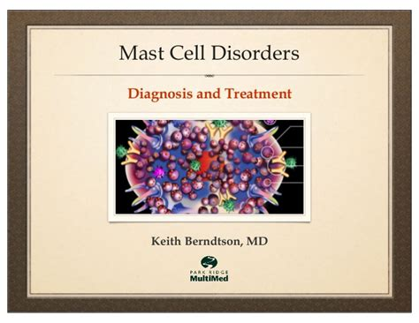 Detox And Mastocytosis by Mast Cell Disorders