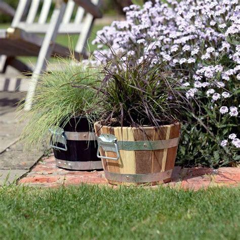 Cadix Planters by Cadix Acacia Barrel Planter Garden