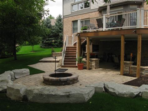 walkout basement backyard ideas walkout patio project craftsman patio other metro