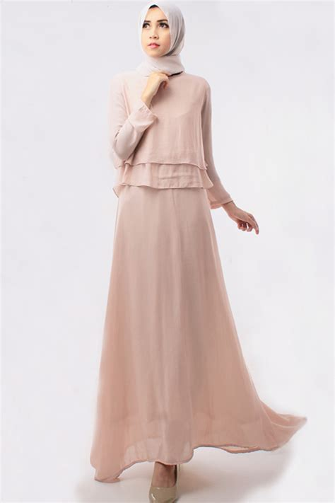 Tipsy Set Dress Pasmina 2 pieces layer top with inner dress including shawl