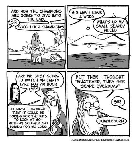 hilarious harry potter comic strips reveal  dark side  dumbledore