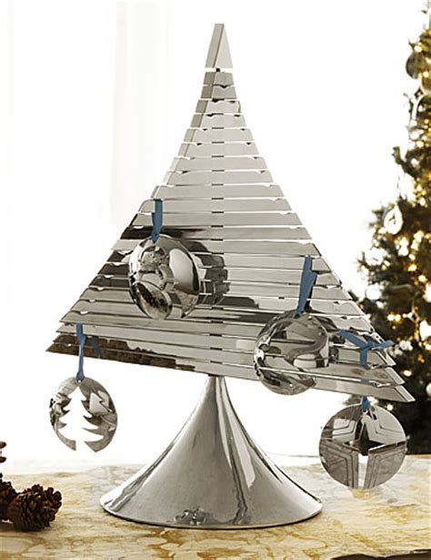 nambe metal christmas tree ornament holder shannon