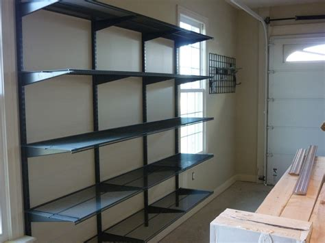 shelving for garage walls 4 garage shelving ideas you t thought about