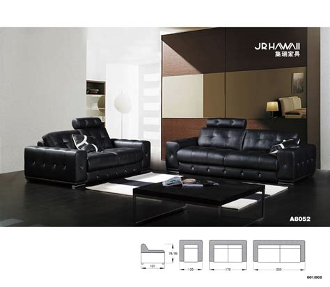 Black Leather Sofa In Living Room Aliexpress Buy Home Furniture Sectional Sofa In Leather Living Room Sofa Black Color