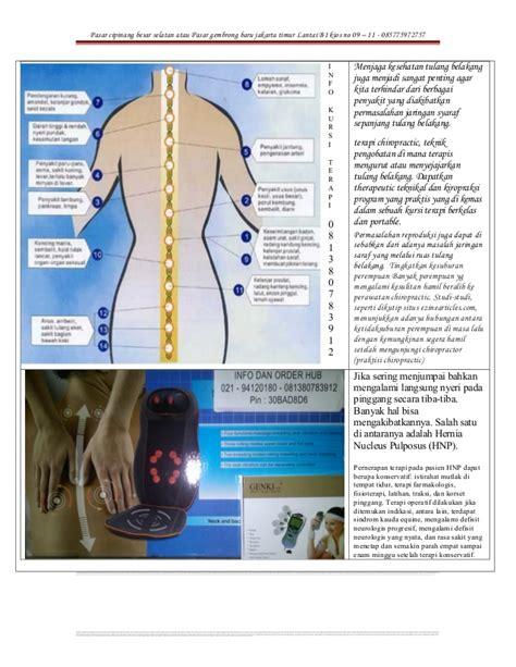 Alat Pijat Genki kursi terapi hnp saraf terjepit gratis 1 unit genki mesin