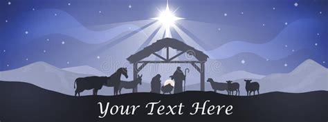 christmas nativity banner stock vector illustration  religious