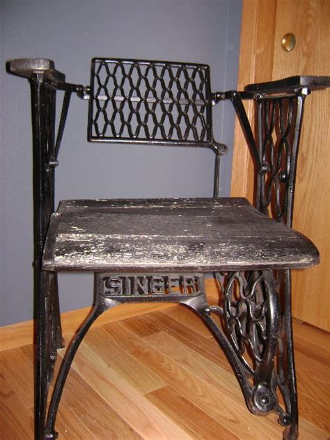 Sewing Machine Chairs by Chair Made From Singer Treadle Base Once A Sewing
