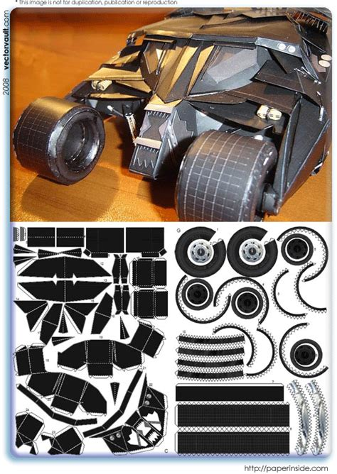 Batmobile Papercraft - paper craft vectorvault your imagination is the