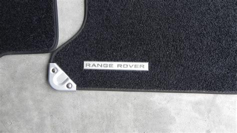 Range Rover Clic Rubber Floor Mats   Carpet Vidalondon