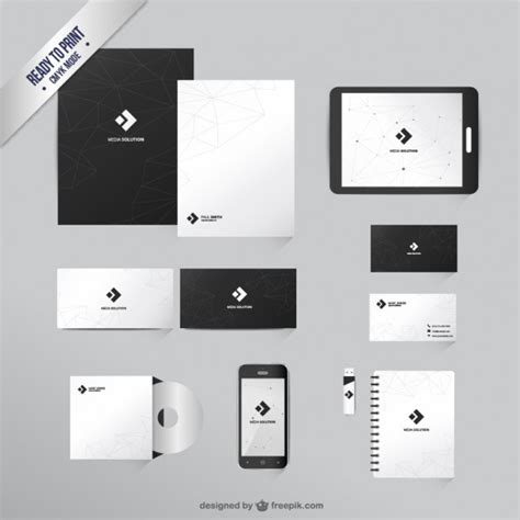 identity design template mockup papeleria vectors photos and psd files free