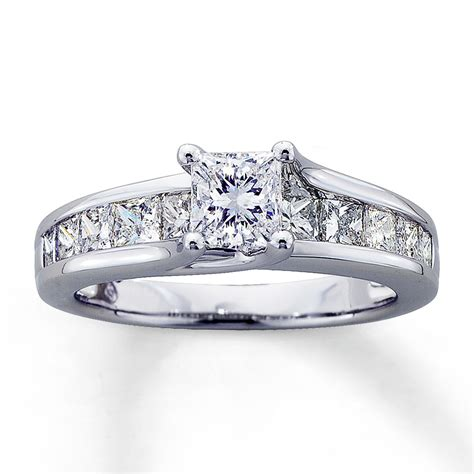 jared engagement ring 2 ct tw princess cut 14k