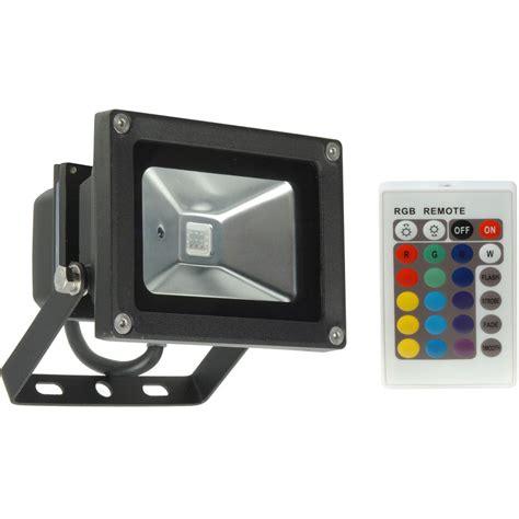 Lu Led 10w Rgb Remote led 10w rgb colour changing floodlight ip65 toolstation