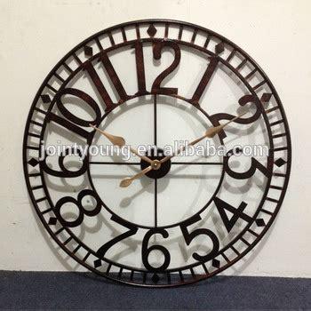 buy hanslin large number metal wall clock online at low large outdoor clock metal wall clock street clock buy
