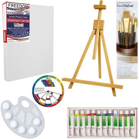 acrylic paint and supplies us supply 21 acrylic painting set with table