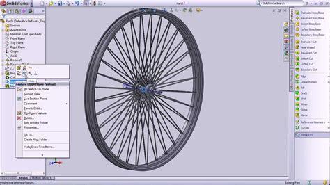 solidworks tutorial bike 5310060214 solidworks hw6 wheel youtube
