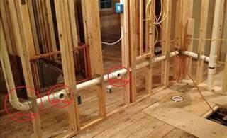 How To Run Plumbing double vanity horizontal drain run help terry love plumbing