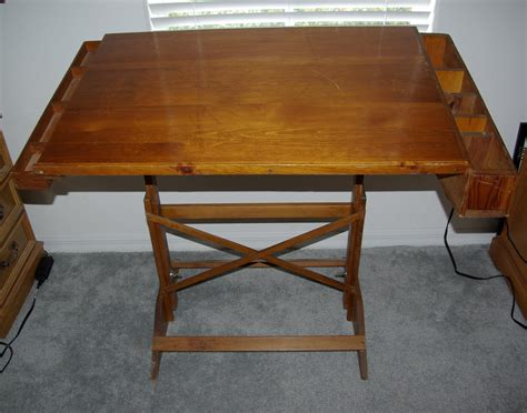 Antique Solid Wood Drafting Table Reserved For Deb Wood Drafting Tables