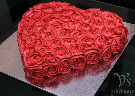 Decorating Home For Wedding by V S Bakehouse Gallery Red Heart Butterscotch Cake