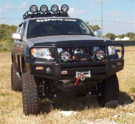 nissan frontier bull bar with lights 4x4 parts arb frontier winch mount bull bar apab3438320f