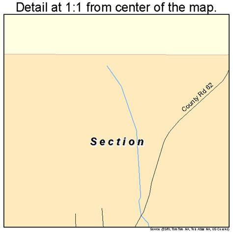 section al section alabama street map 0169000