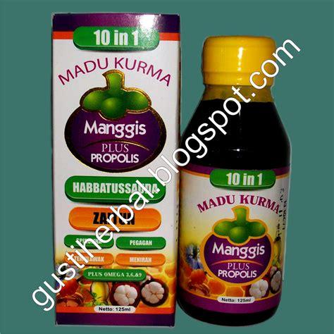 Madu Gannona Plus Sirsak Manggis Propolis madu kurma manggis plus propolis gusti herbal herbal bandung madu hitam pahit klorofil