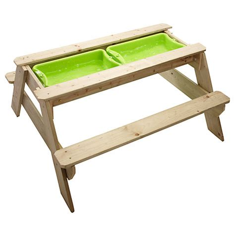 buy picnic bench buy tp toys tp286 deluxe picnic table sandpit john lewis