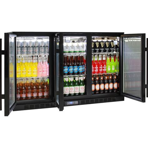 under bench bar fridge glass door alfresco glass 3 door bar fridge