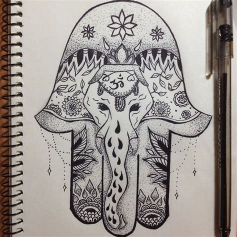 elephant hamsa tattoo hamsa drawing поиск в my diy